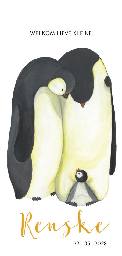 Geboortekaartjes - Geboortekaart pinguïn illustratie