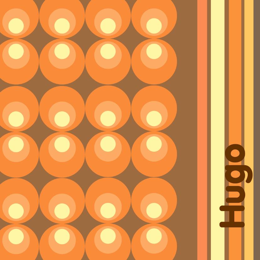 Geboortekaartjes - Geboortekaart Retro Design Hugo