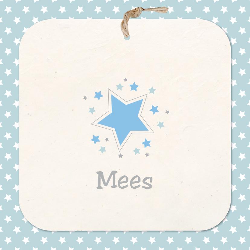 Geboortekaartjes - geboortekaart ster Mees