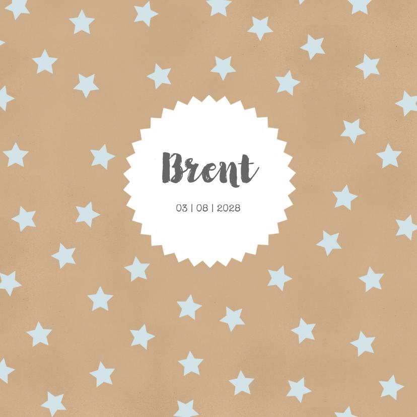 Geboortekaartjes - Geboortekaart sterren kraft - BC