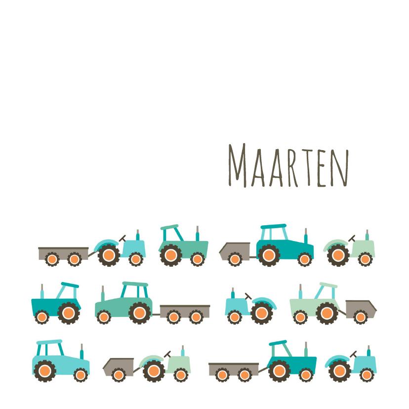 Geboortekaartjes - Geboortekaart tractors