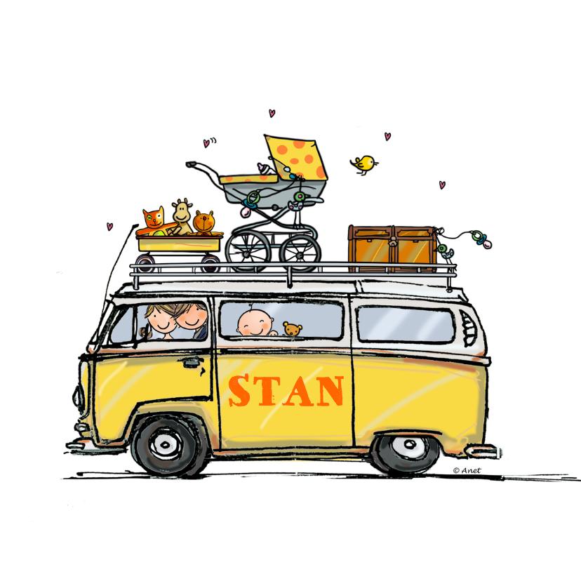 Geboortekaartjes - Geboortekaart Volkswagen bus