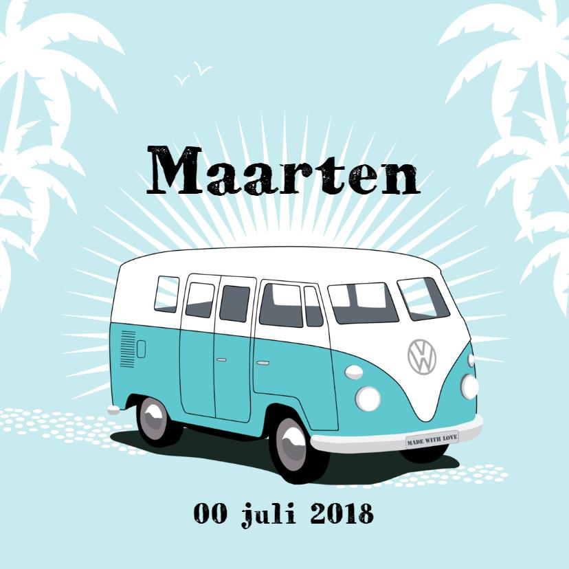 Geboortekaartjes - Geboortekaart Volkswagen T1 bus
