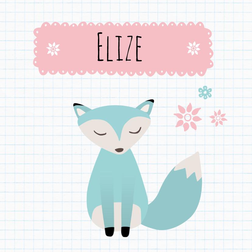 Geboortekaartjes - Geboortekaart Vosje Elize