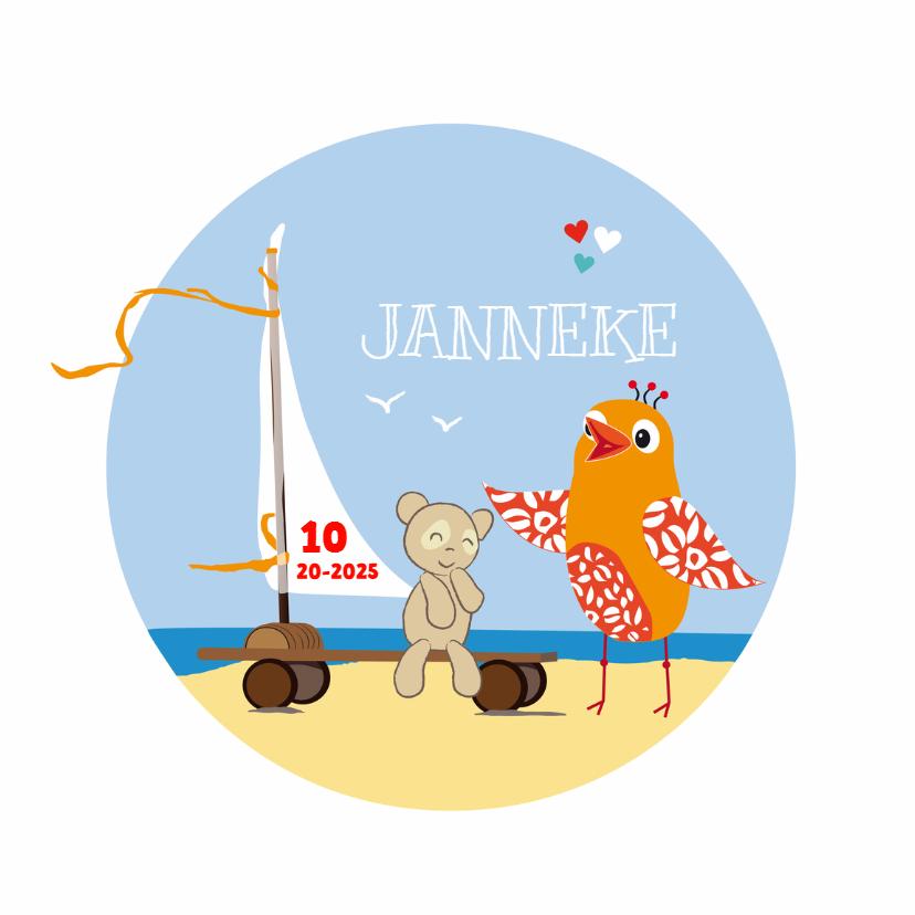 Geboortekaartjes - Geboortekaart windskatebord girl