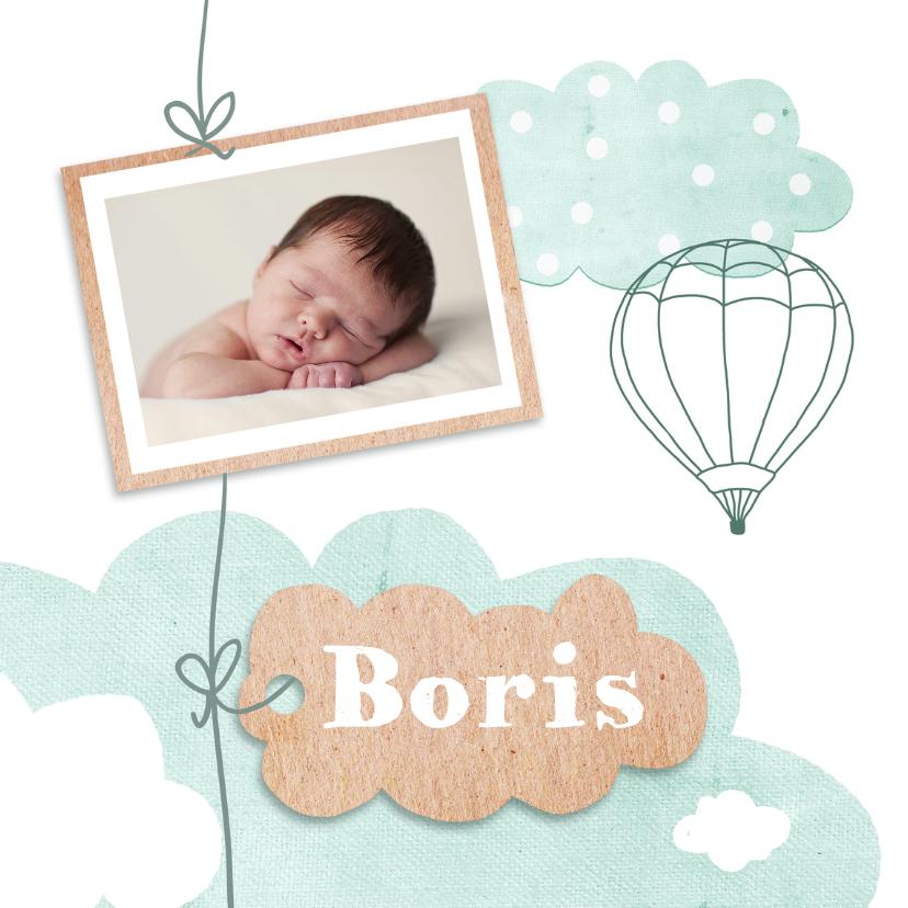Geboortekaartjes - Geboortekaart wolken