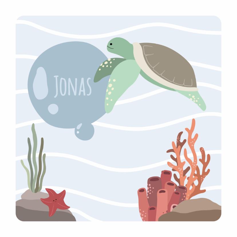 Geboortekaartjes - Geboortekaart zee Jonas - DH