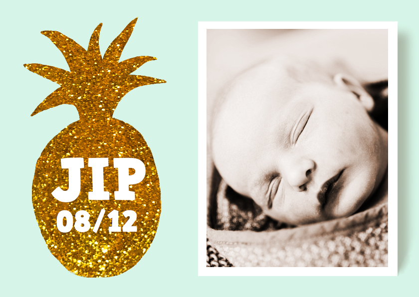 Geboortekaartjes - Geboortekaartje ananas jongen