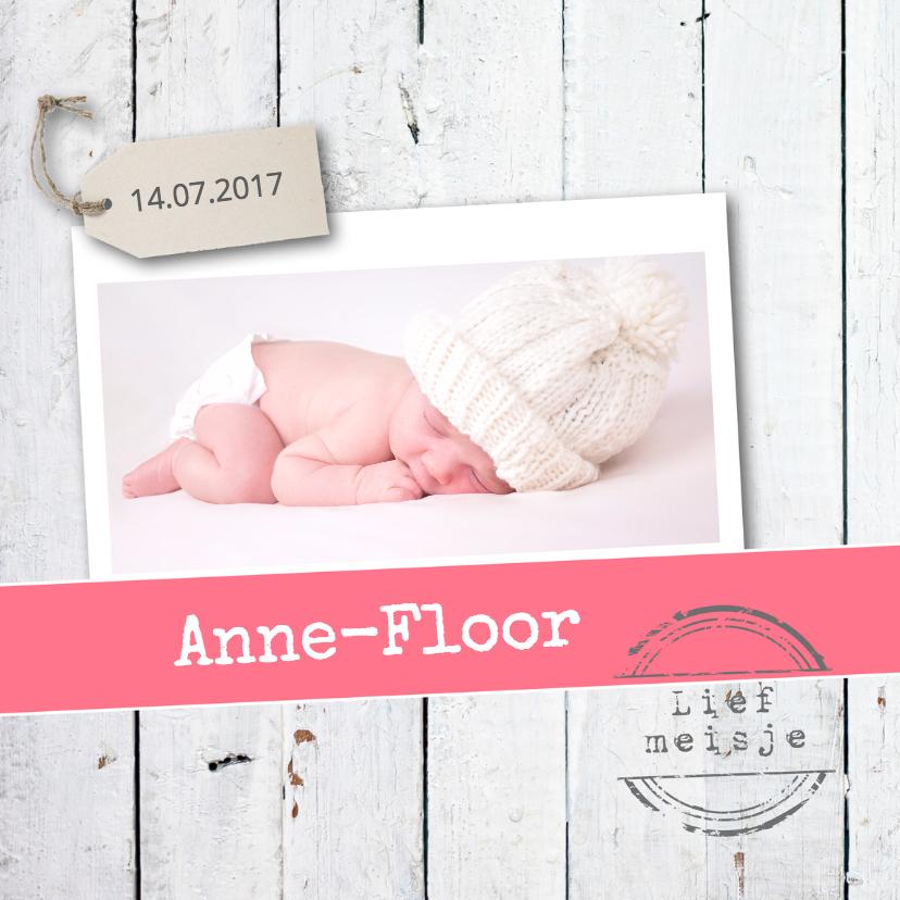 Geboortekaartjes - Geboortekaartje Anne-Floor