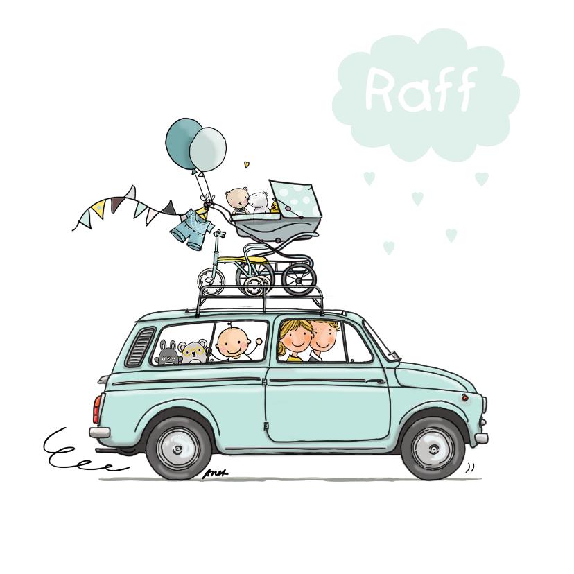 Geboortekaartjes - Geboortekaartje Fiat 500 bestel