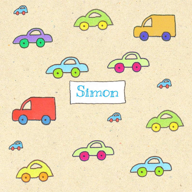 Geboortekaartjes - Geboortekaartje auto's