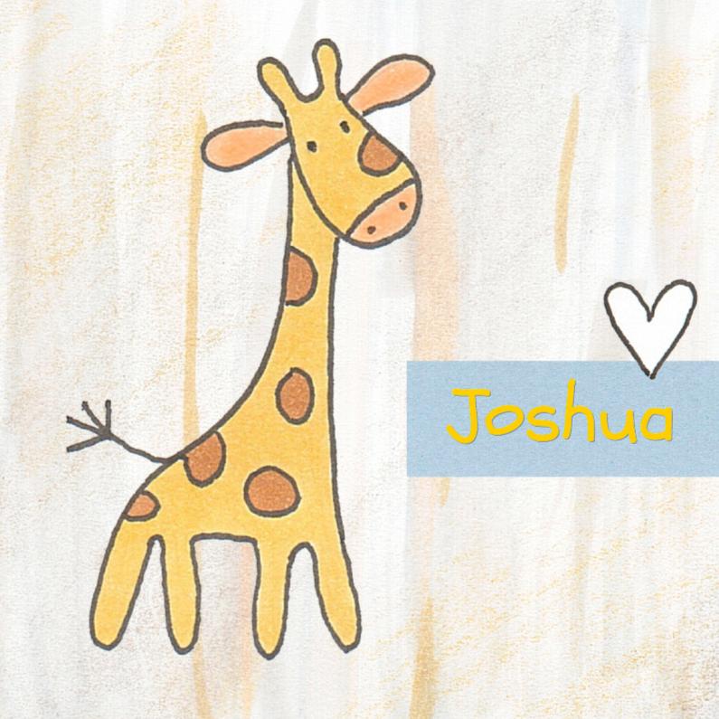 Geboortekaartjes - Geboortekaartje baby-giraf