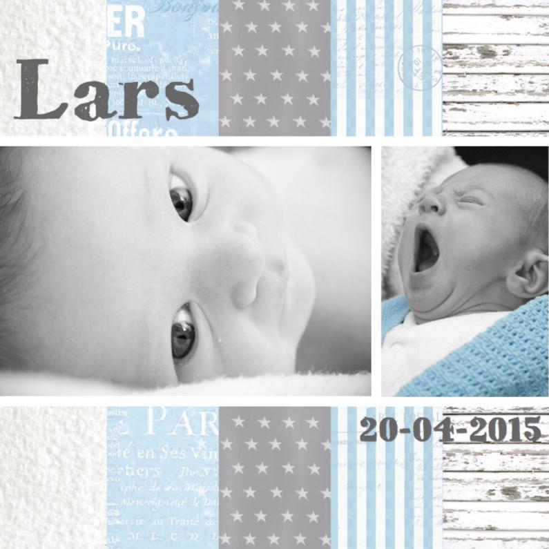 Geboortekaartjes - Geboortekaartje Babyblue