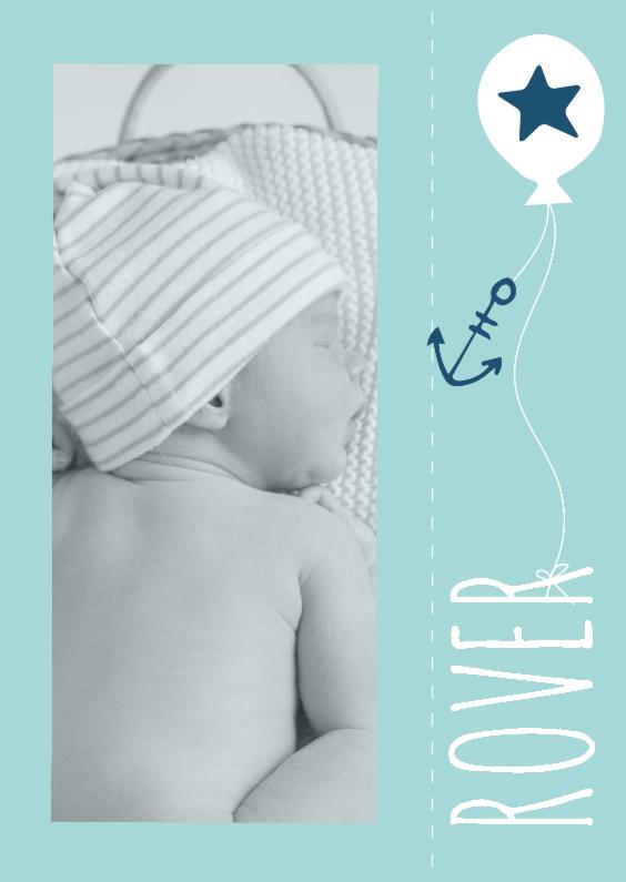 Geboortekaartjes - Geboortekaartje Ballon Anker