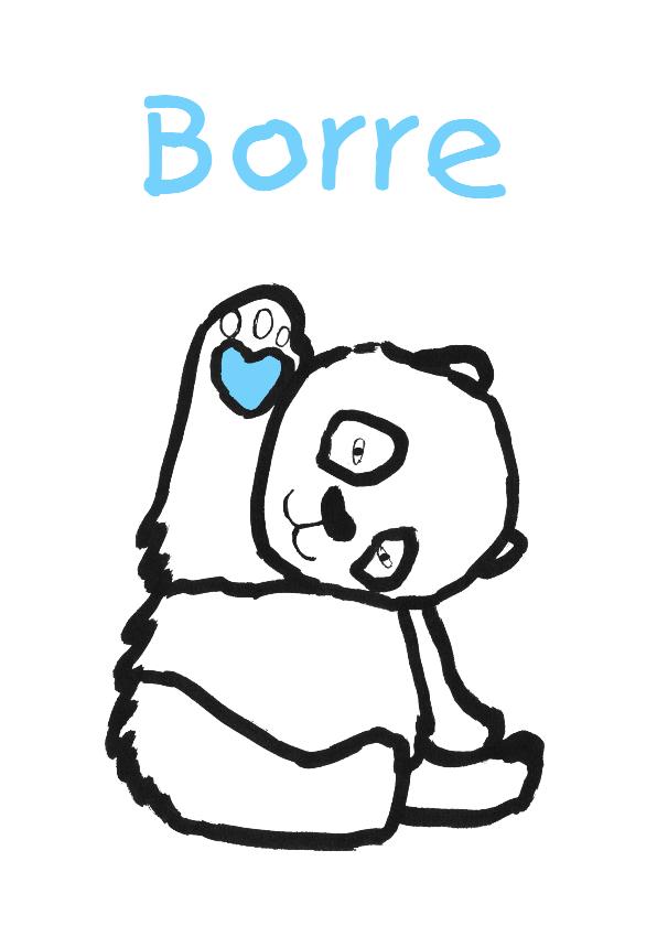 Geboortekaartjes - geboortekaartje beer Borre