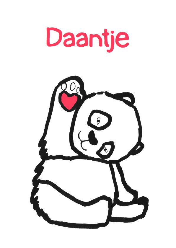 Geboortekaartjes - geboortekaartje beer Daantje