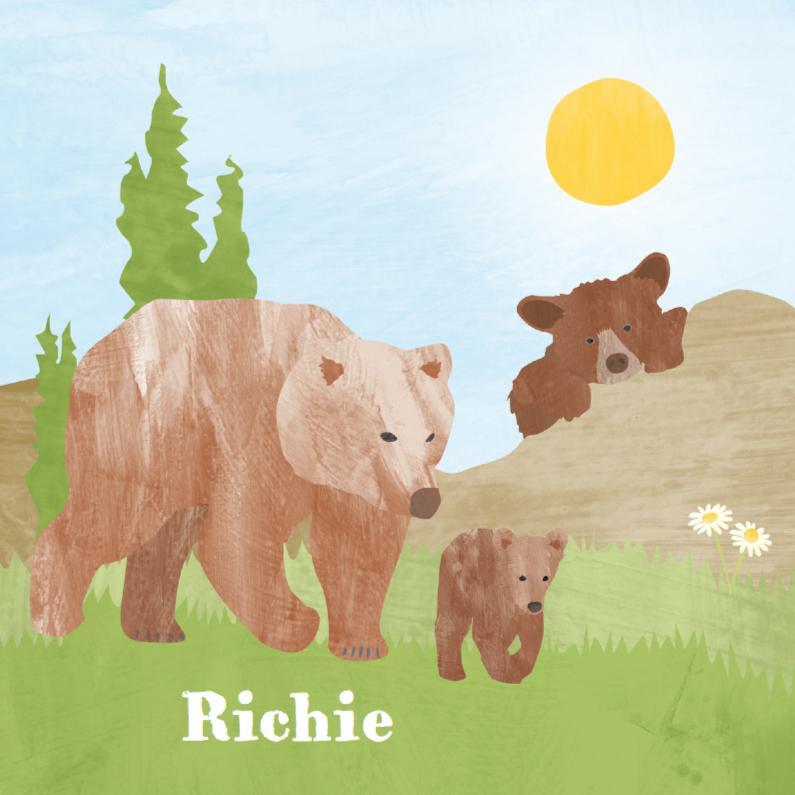 Geboortekaartjes - Geboortekaartje beertjes