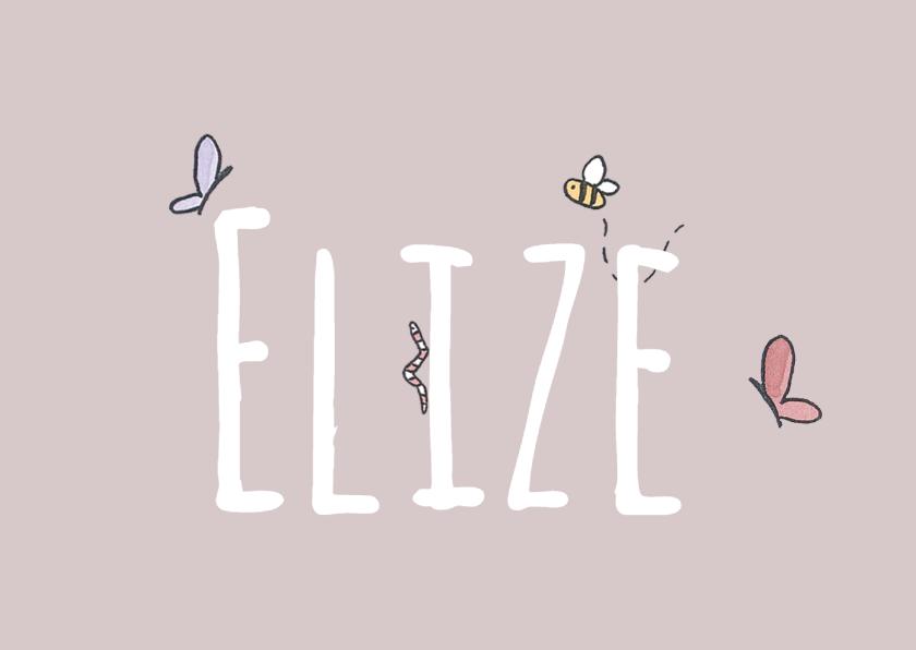 Geboortekaartjes - Geboortekaartje Beestjes - LFZ
