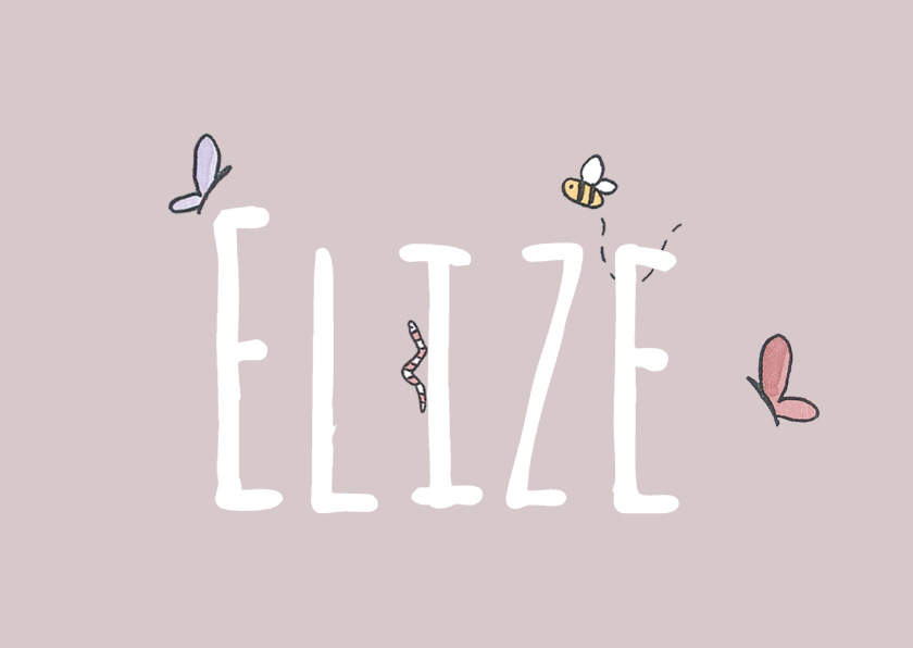 Geboortekaartje Beestjes - LFZ 1