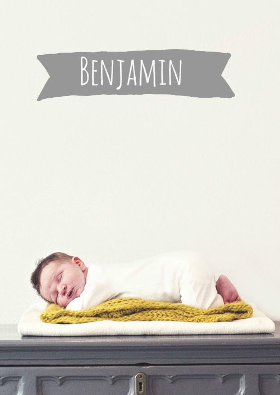Geboortekaartjes - Geboortekaartje Benjamin Max