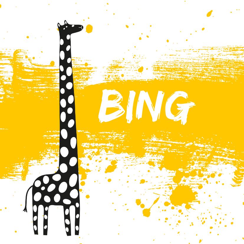 Geboortekaartjes - Geboortekaartje_Bing_SK