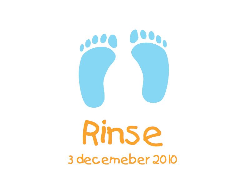 Geboortekaartjes - Geboortekaartje Blauwe baby voetjes 2