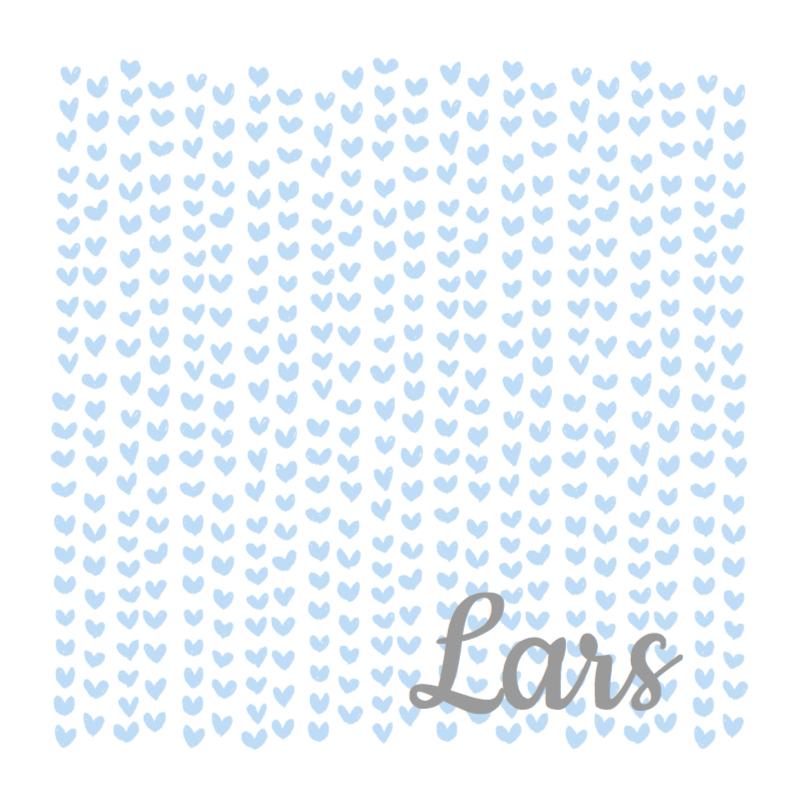 Geboortekaartjes - Geboortekaartje blauwe hartjes