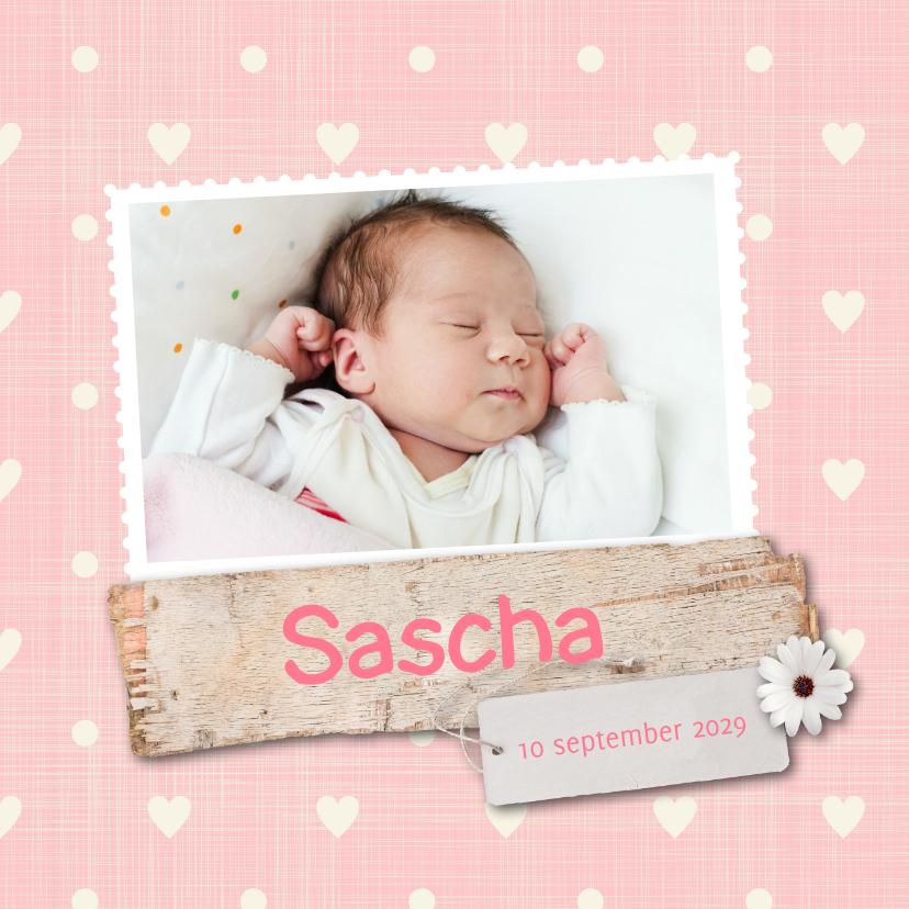 Geboortekaartjes - Geboortekaartje-bloem-Sascha-SK