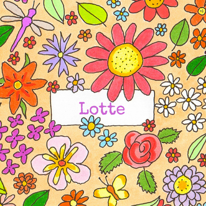 Geboortekaartjes - geboortekaartje bloemen