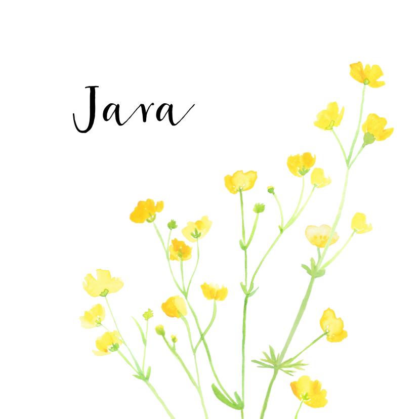 Geboortekaartjes - Geboortekaartje boterbloempjes