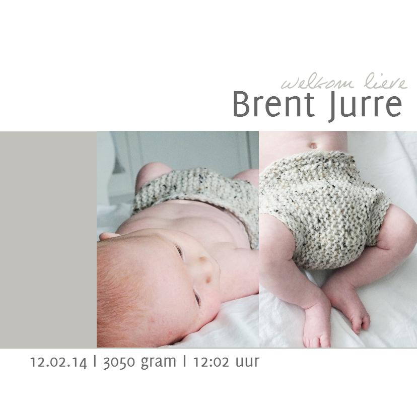 Geboortekaartjes - Geboortekaartje Brent
