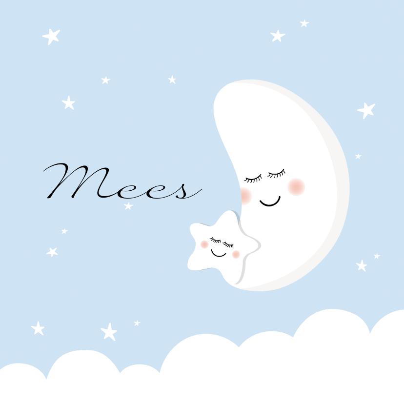 Geboortekaartjes - Geboortekaartje broer maan ster