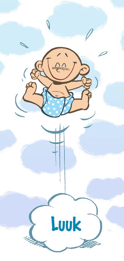 Geboortekaartjes - Geboortekaartje broertje - in de wolken - A