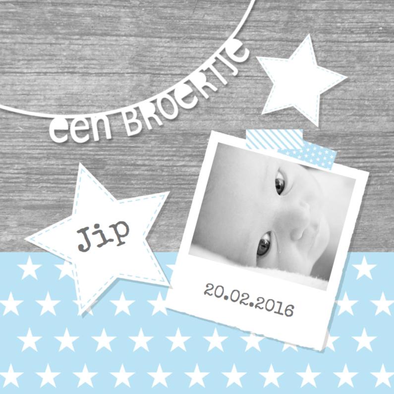 Geboortekaartjes - Geboortekaartje Broertje Sterren