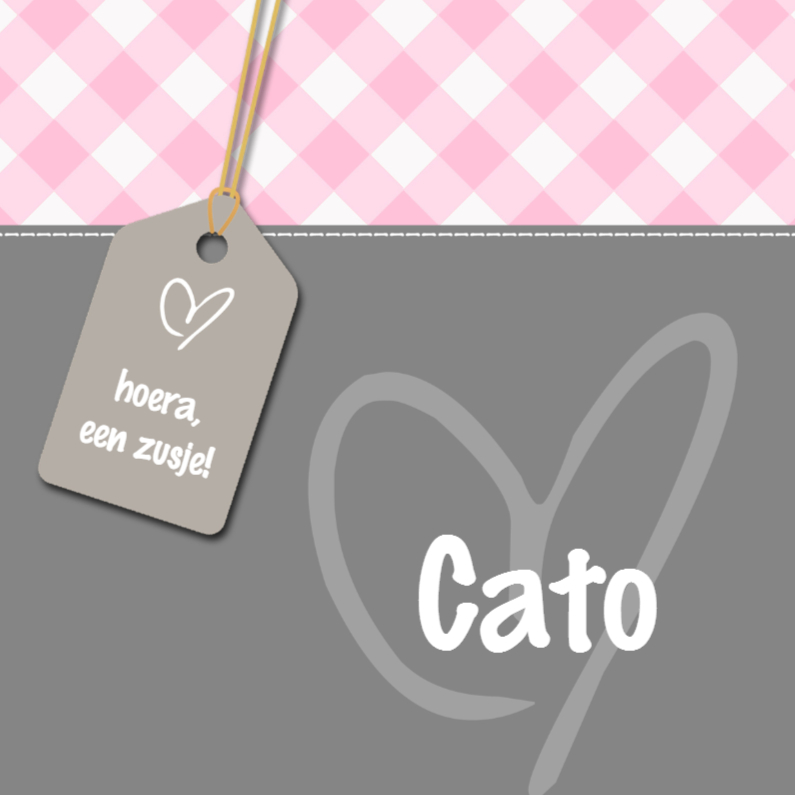 Geboortekaartjes - Geboortekaartje Cato LS