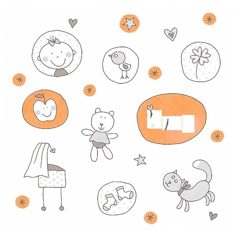 Geboortekaartjes - Geboortekaartje  cirkels meisje