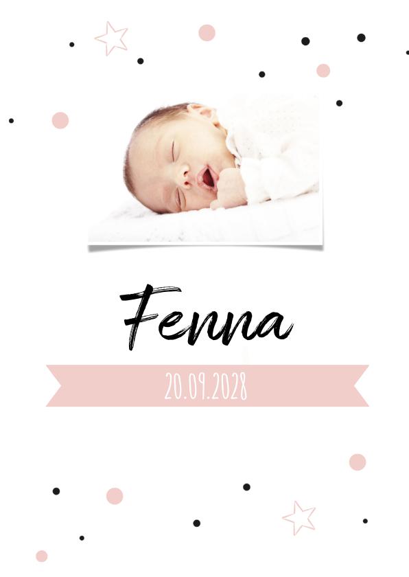 Geboortekaartjes - Geboortekaartje confetti Fenna