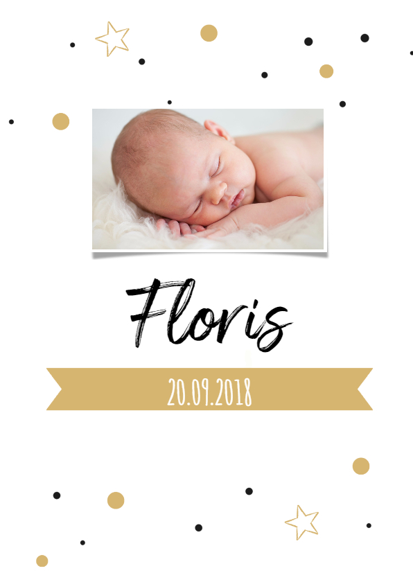 Geboortekaartjes - Geboortekaartje confetti FLoris