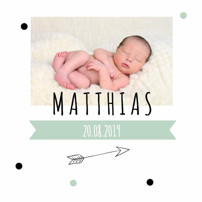 Geboortekaartjes - Geboortekaartje confetti foto 2