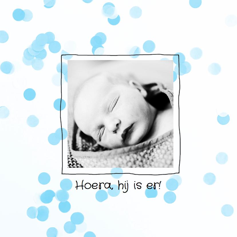 Geboortekaartjes - Geboortekaartje confetti pastel
