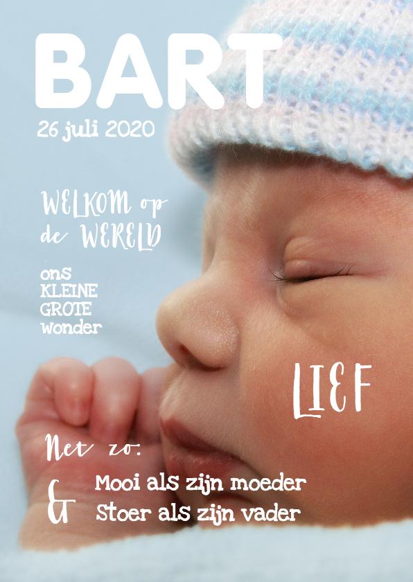 Geboortekaartjes - Geboortekaartje cover magazine 1 - OT