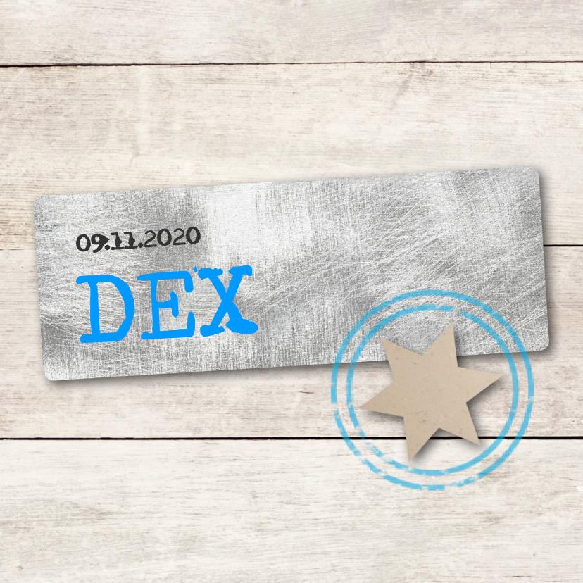 Geboortekaartjes - Geboortekaartje Dex