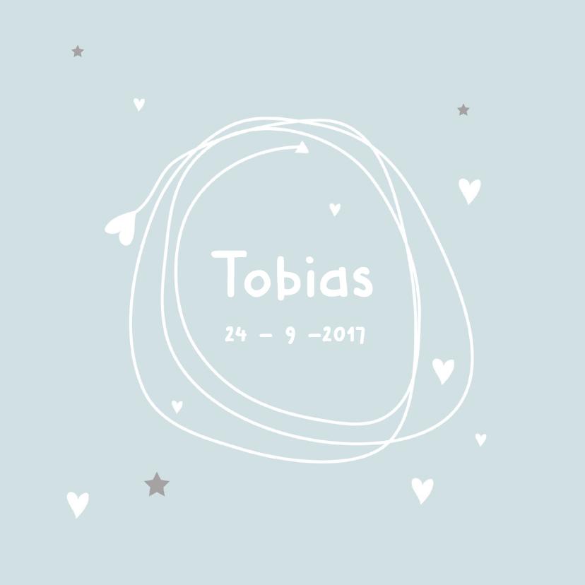 Geboortekaartjes - Geboortekaartje eenvoudig jongen