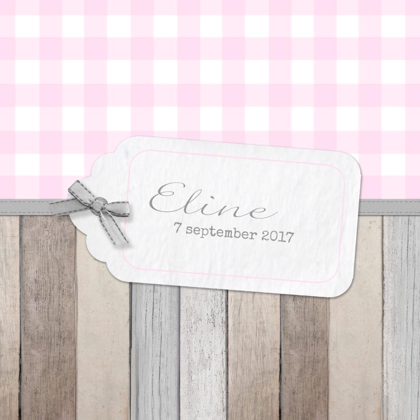 Geboortekaartjes - Geboortekaartje Eline label
