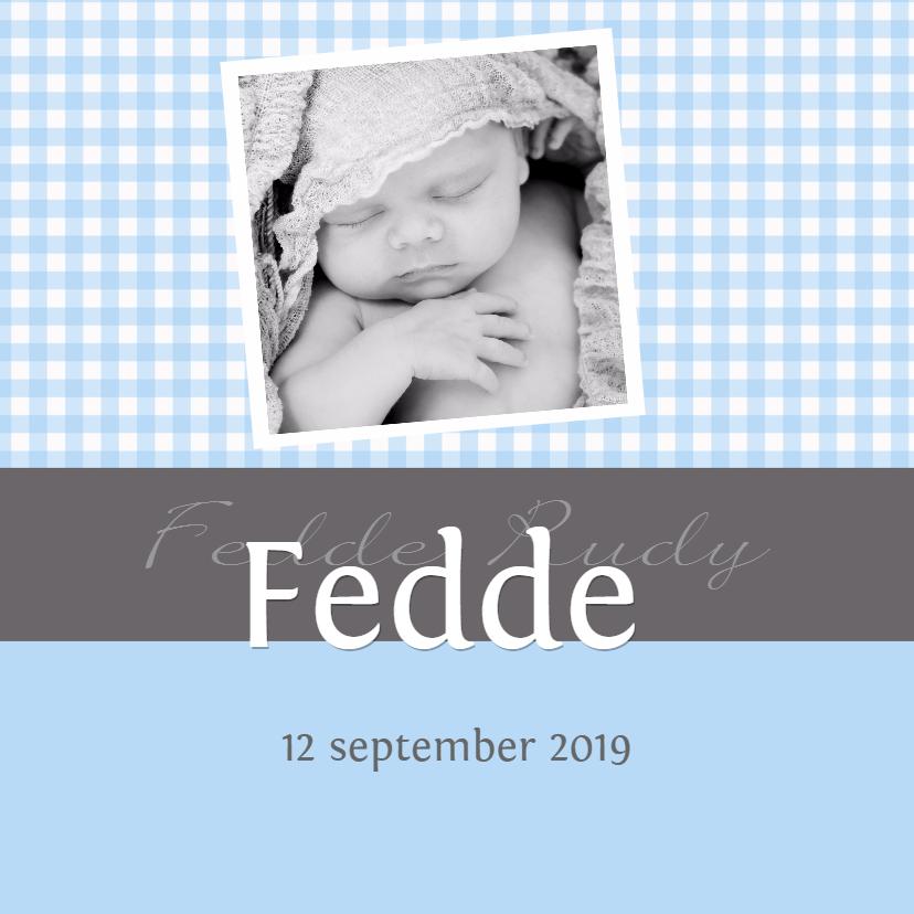 Geboortekaartjes - Geboortekaartje Fedde GF