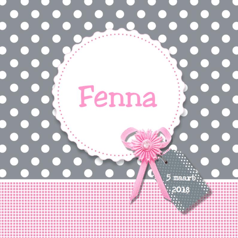 Geboortekaartjes - Geboortekaartje Fenna - LOVZ
