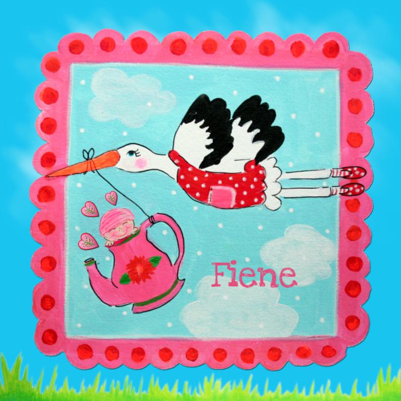 Geboortekaartjes - Geboortekaartje Fiene PA