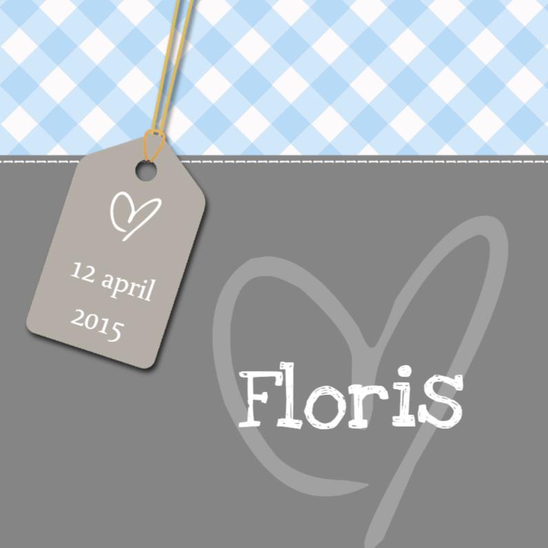 Geboortekaartjes - Geboortekaartje Floris LS