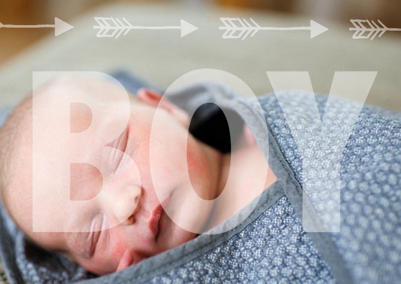 Geboortekaartjes - Geboortekaartje foto boy
