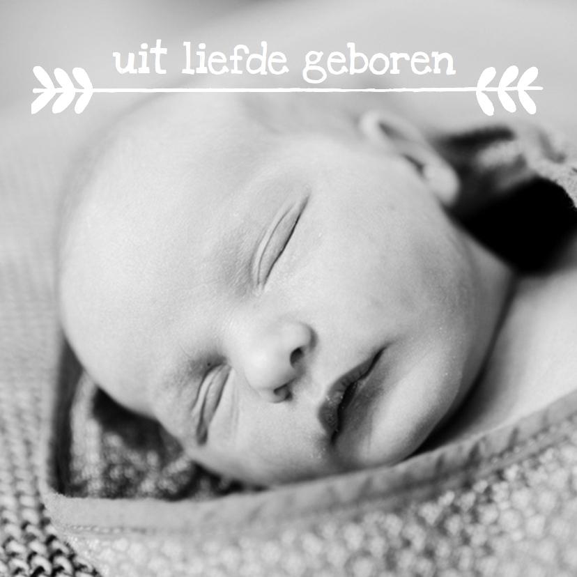 Geboortekaartjes - Geboortekaartje foto lief